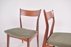H P Hansen M belindustri Set of 6 Rosewood H P Hansen Dining Chairs for Randers - 1817824