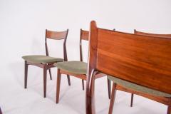 H P Hansen M belindustri Set of 6 Rosewood H P Hansen Dining Chairs for Randers - 1817825
