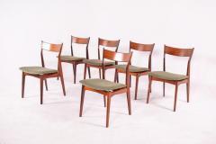 H P Hansen M belindustri Set of 6 Rosewood H P Hansen Dining Chairs for Randers - 1817826