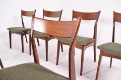 H P Hansen M belindustri Set of 6 Rosewood H P Hansen Dining Chairs for Randers - 1817827