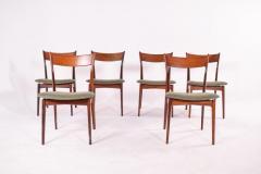 H P Hansen M belindustri Set of 6 Rosewood H P Hansen Dining Chairs for Randers - 1817828