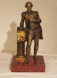 HL Chalfant American Fine Art Antiques Bronze of George Washington - 885994