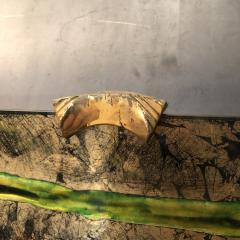 Haeti Reverse Painting on Curved Glass by Haeti for Santambrogio De Berti 1950 - 923001