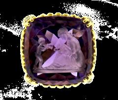 Hammerman Brothers Hammerman Intaglio Amethyst Gold Ring - 136562