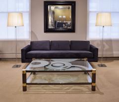 Hansen Lighting Co Hansen Pair of Special Order Glass Rod Floor Lamps 1960s Signed  - 2020771