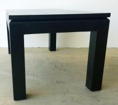Harrison Van Horn Mid Century Modern Black Lacquered in Black Grasscloth Coffee Cocktail Table - 973069