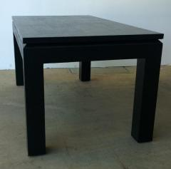 Harrison Van Horn Mid Century Modern Black Lacquered in Black Grasscloth Coffee Cocktail Table - 973074