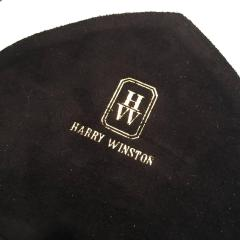 Harry Winston Rare Black and Red Suede Leather Trim Purse Pocketbook - 114581