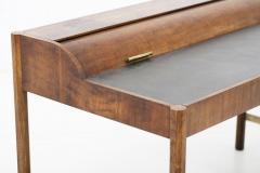 Hekman Furniture Company Hekman Walnut and Brass Roll Top Writing Desk - 1607021
