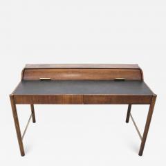 Hekman Furniture Company Hekman Walnut and Brass Roll Top Writing Desk - 1607735