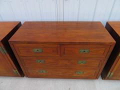 Henredon Furniture 3 Outstanding Henredon Campaign Chest Cabinet Credenza Mid Century Modern - 1708812