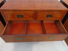 Henredon Furniture 3 Outstanding Henredon Campaign Chest Cabinet Credenza Mid Century Modern - 1708828