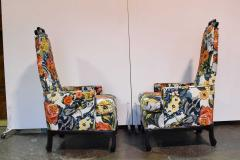 Henredon Furniture Pair of James Mont Style Chairs by Henredon - 1238952