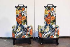 Henredon Furniture Pair of James Mont Style Chairs by Henredon - 1238953