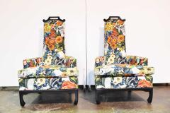 Henredon Furniture Pair of James Mont Style Chairs by Henredon - 1238958