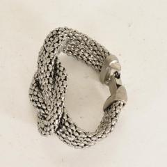 Herm s Art Deco Period Sculptural Aluminum Braided Bracelet - 888036