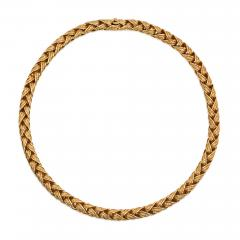 Herm s Herm s Estate Woven Gold Necklace - 1601890