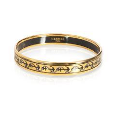 Herm s Herm s Gold Plated Narrow Enamel Bangle - 1842128