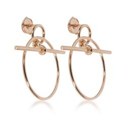 Herm s Herm s Small Model Loop Earring in 18K Rose Gold - 1842156