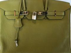 Herm s Hermes Birkin 35 Sauge Clemence Hand Bag 2007 - 1243374