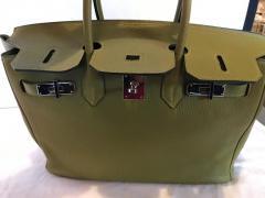 Herm s Hermes Birkin 35 Sauge Clemence Hand Bag 2007 - 1243376