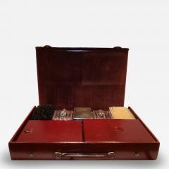 Herm s Hermes Mens Leather Deco Travel Case - 80040