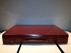 Herm s Hermes Mens Leather Deco Travel Case - 80041