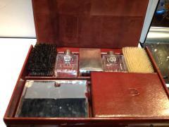 Herm s Hermes Mens Leather Deco Travel Case - 80042