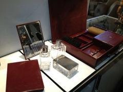 Herm s Hermes Mens Leather Deco Travel Case - 80043