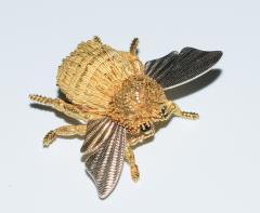 Herm s Hermes Paris Honey Bee Brooch - 773780
