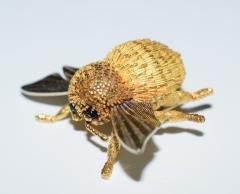 Herm s Hermes Paris Honey Bee Brooch - 773782