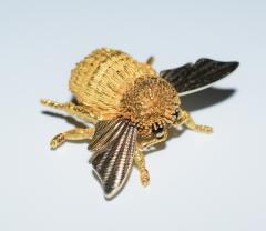 Herm s Hermes Paris Honey Bee Brooch - 773783
