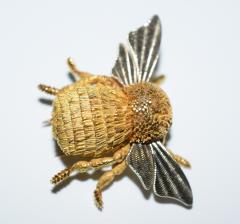 Herm s Hermes Paris Honey Bee Brooch - 773784