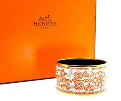 Herm s Hermes extra wide enamel bracelet - 1139501
