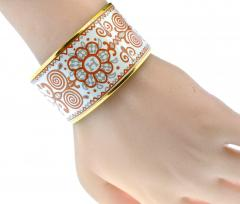 Herm s Hermes extra wide enamel bracelet - 1139504