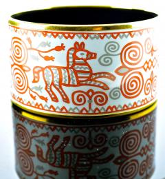 Herm s Hermes extra wide enamel bracelet - 1139506