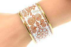 Herm s Hermes extra wide enamel bracelet - 1139507
