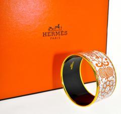 Herm s Hermes extra wide enamel bracelet - 1139521