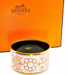 Herm s Hermes extra wide enamel bracelet - 1139524