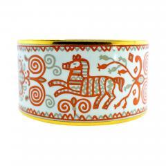 Herm s Hermes extra wide enamel bracelet - 1140637