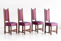 Herm s Set of Four Amsterdam School Dining Chairs Newly Upholstered in Herm s Fabric - 444376