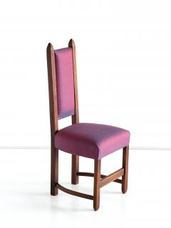 Herm s Set of Four Amsterdam School Dining Chairs Newly Upholstered in Herm s Fabric - 444377