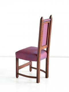 Herm s Set of Four Amsterdam School Dining Chairs Newly Upholstered in Herm s Fabric - 444379