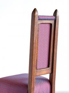 Herm s Set of Four Amsterdam School Dining Chairs Newly Upholstered in Herm s Fabric - 444381