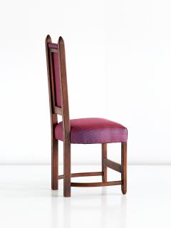 Herm s Set of Four Amsterdam School Dining Chairs Newly Upholstered in Herm s Fabric - 444382