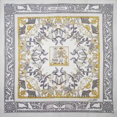 Herm s Silk Scarf Early America  - 1229505