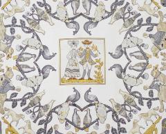 Herm s Silk Scarf Early America  - 1229506