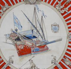 Herm s Silk Scarf La Marine a Rames  - 1203066