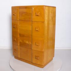 Heywood Wakefield 1940s Art Deco Heywood Wakefield RIO Highboy Dresser Blonde Maple by Leo Jiranek - 2018566