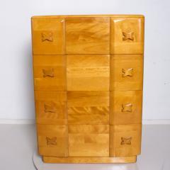 Heywood Wakefield 1940s Art Deco Heywood Wakefield RIO Highboy Dresser Blonde Maple by Leo Jiranek - 2018568